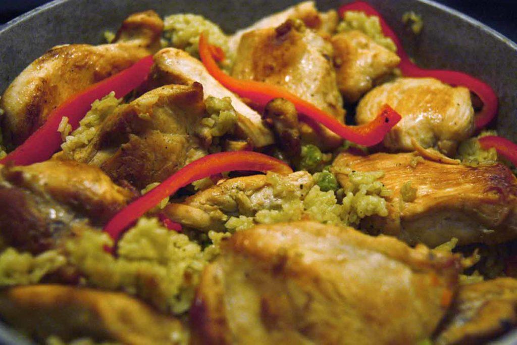 Receta y preparación de arroz con pollo