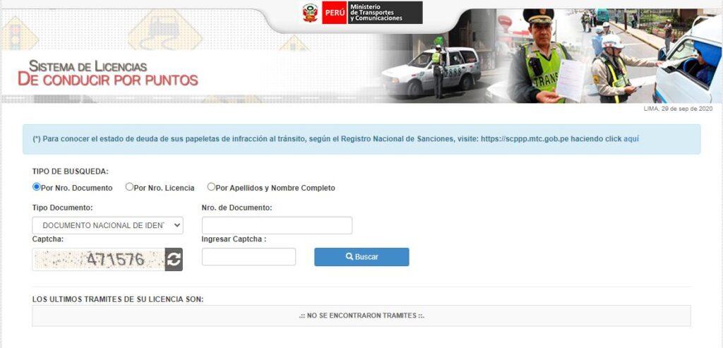 Sistema de licencias de conducir por puntos: Récord de conductor
