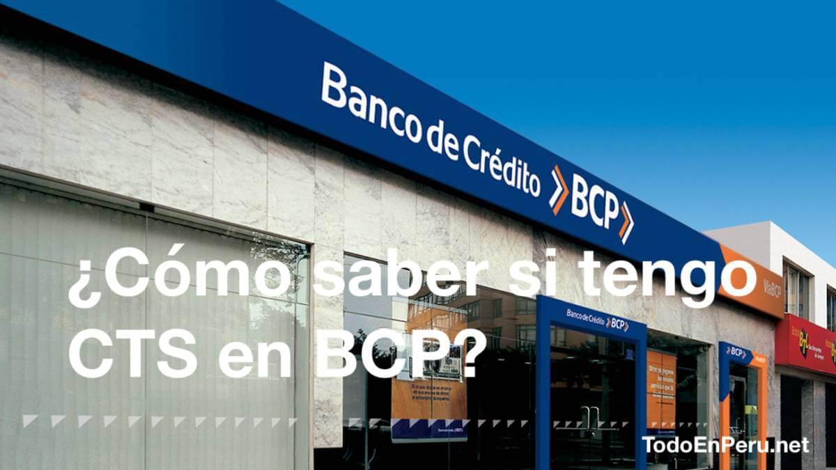 ¿Cómo saber si tengo CTS en BCP_