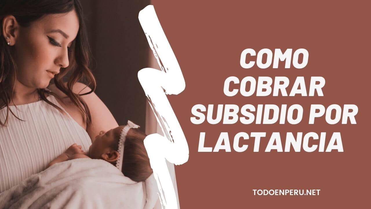 Como cobrar subsidio por lactancia – EsSalud