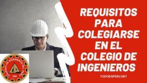 Requisitos para Colegiarse en el Colegio de Ingenieros del Perú