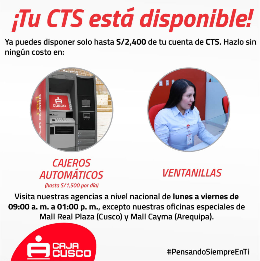 Retiro CTS Caja Cusco