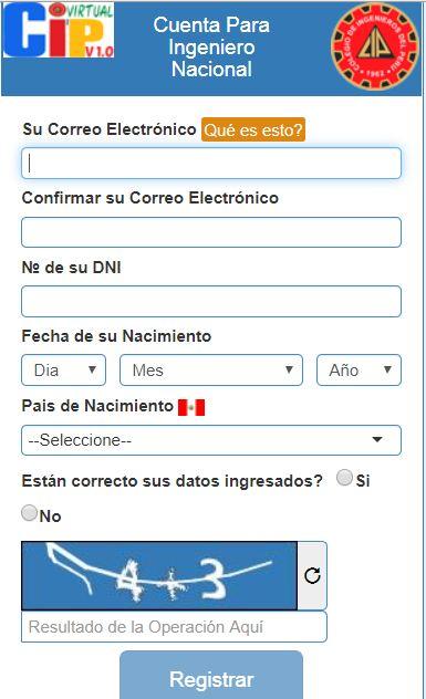 registro de CIP Virtual
